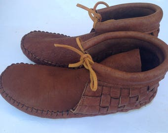 Cork Woven Adult Moccasins