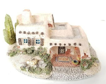 Hacienda by Maurice Wideman - The American Collection - John Hine Studios - Made in Canada - Southwest Adobe House Sculpture
