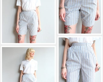 1960s Short & Capri Set // Jantzen Cotton Plaid Shorts + Capri Pants // vintage 60s set