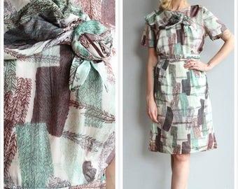25% Off Sale // 1950s Dress // Silk Syd Floral Dress // vintage 50s dress