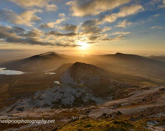 the sunrise from the top of mt errigal in north donegal ireland
