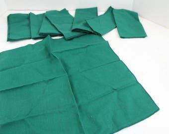 Dark Green Fabric reusable napkins SOLD AS IS