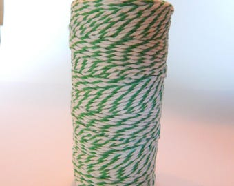 GREEN Baker's Twine - Cotton Twine - 100 yards - 12 ply - 2 mm - Favor Packaging - Doodlebug - Emerald Green - Christmas Twine