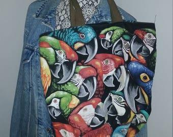 Parrot Birds Canvas Tote