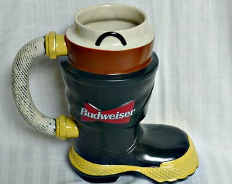 Fire Fighter's Boot Collectible Budweiser Stein Originl Box Certificate of Authenticity Fire Fighter's Series CS321