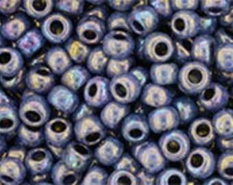 Japanese (Toho) 8/0 Seed Bead, Hybrid OXIDIZED BRONZE BLUEBERRY, #Y861, bronze, blueberry, blue, Kumihimo, Beadweaving, Beading, Jewelry