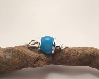 Blue glass jewel bangle