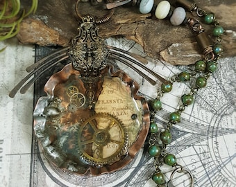 Passages of Time - Mixed Media Art Jewelry