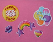 85. STICKERS: Glitter, Puffy & Scratch n' Sniff from 100 tiny brushstrokes (the childhood memory project) - Original Painting