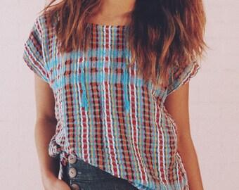 Handwoven blouse from Puerto Escondido, Oaxaca
