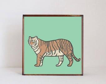 tiger, safari nursery art, tiger nursery art- baby boy,  safari nursery prints, jungle nursery decor-  playroom- tiger art- redtilestudio