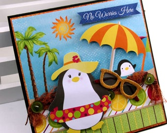 No Worries Here Greeting Card Polly's Paper Studio Handmade