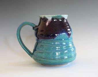 EXTRA LARGE Mug, 24 oz, unique coffee mug, handmade ceramic cup, hand thrown mug, stoneware mug, wheel thrown pottery mug
