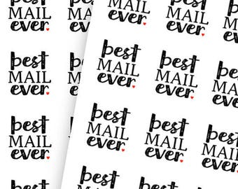 EXCLUSIVE** Best Mail Ever ( 24 Stickers 1 1/2 in.)
