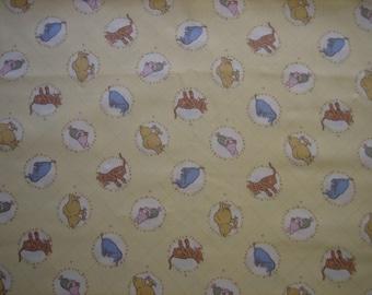 Classic Pooh  # 1435 Disney, AA Milne, EH Shepard fabric ( BTHY )Springs Industries Inc