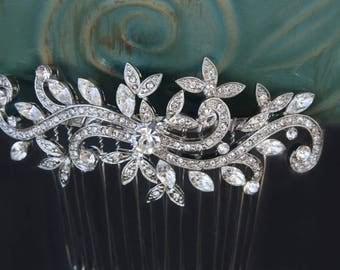 wedding hair comb rhinestone for bride hair comb bridal hair comb bridal hair accessories wedding hair accessories bridesmaid hair comb