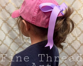 Add On Bow to the Back of Any Purchased Hat from Our Shop Sewn On Hair Bow