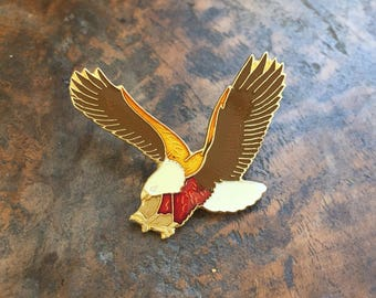 Vintage American Eagle Motorcycle enamel pin