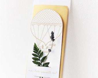 Hot Air Balloon - Travel // Dried Floral Notes