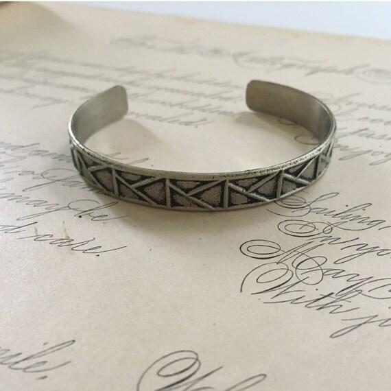 Cuff Bangle Bracelet | Geometric Jewelry | Architectural Jewelry