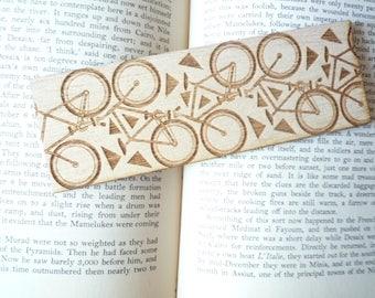 Bicycle, Laser Engraved Wood Bookmark