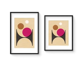 PER FORMARE no.1 - Giclee Print - Mid Century Modern Danish Modern Style Minimalist Modernist Eames Abstract