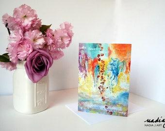 5x7 She Found Herself Greeting Card