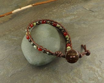 SALE! Men's Creativity, Intellect & Protection leather bracelet