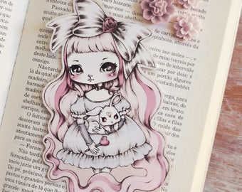 Doll - bookmark - made to order
