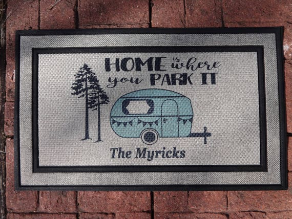 Camper Door Mat Personalized Doormat Custom Doormat
