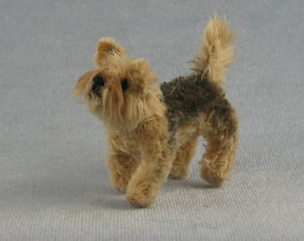 Yorkie Soft Sculpture Miniature Dog by Marie W. Evans