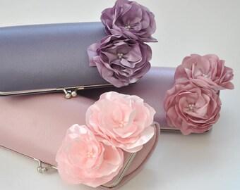 Mauve-Lilac-Dusty rose-Pale pink - wedding clutch - Bridal clutch/Bridesmaid clutch-Prom clutch- Custom clutch