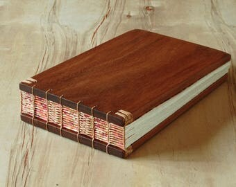 Wood Wedding Guest Book or Vacation Home Guestbook Mahogany Wood Cabin  anniversary book lover gift custom memorial book - ready to ship