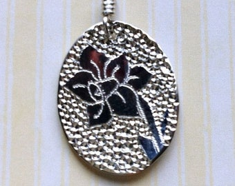 SALE Daffodil Silver Sterling Necklace