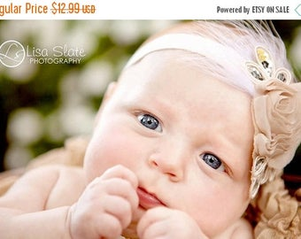 10% SALE Shop BEST Seller, Baby headband, newborn headband, adult headband, photography prop The single sprinkled- SMALL Leaf rosie headband