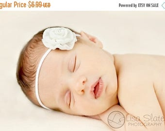 12% off Newborn headband, baby headband, adult headband, photo prop The single sprinkled- Leah- stretch headband