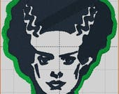 For ladybugz60 - Bride of Frankenstein Tiny Duffel in Black Leather duffel bag, Leather Duffel Bag  - Laurel Dasso