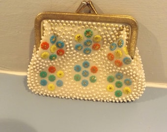 vintage change purse, rockabilly, coin purse, pouch