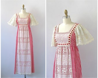 RESERVED FOR KEZIA - Payment 2 of 2 | Vintage 70s Gingham Dress | Size Small