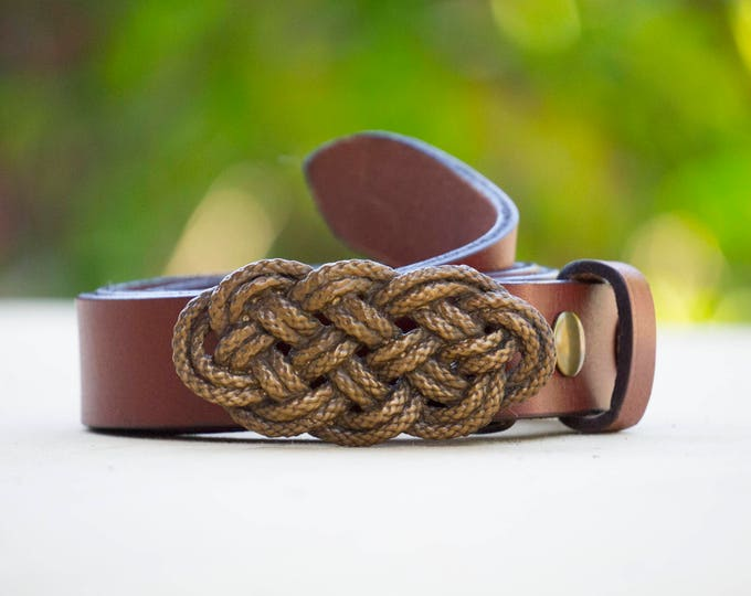 "Knot-ical 1.5"" Bronze Belt Buckle"