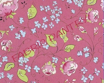 Chinois Rose Quilt Fabric ~ Chinoiserie Chic - by Dena Designs - Pink ~  PWDF199 PINKX