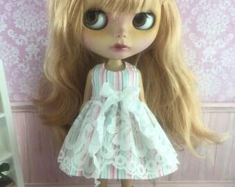 Blythe Ribbon Lace Dress - Stripes