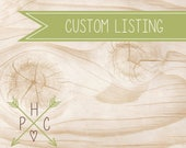 CUSTOM LISTING >>> Jessica Gerhardson >>>  Back Printing and Expedited Shipping