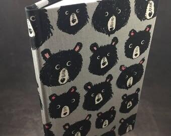 Black Bear hand bound journal
