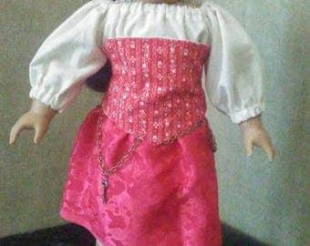 Red pirate skirt