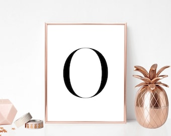 SALE -50% Letter O Monogram Alphabet Name Digital Print Instant Art INSTANT DOWNLOAD Printable Wall Decor