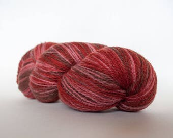 Kauni wool yarn 8/2 Color EN, Self-Striping, Fingering, 2ply, Gradient of dark Brown, Burgundy, Old Pink