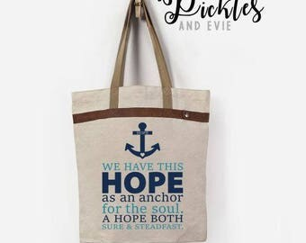 Hope As An Anchor Graphic, Digital Download, Hope DIY, For The Soul Decal, Hope As An AnchorTee, Hope Tee, Soul Tee