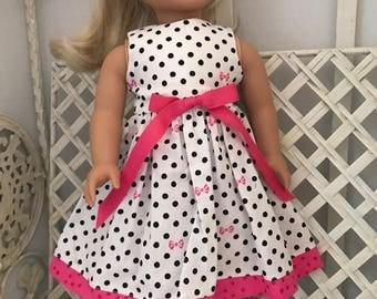 Polkadot Sundress for American Girl Doll or 18 Inch Doll