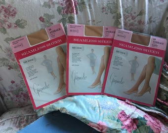 LOT Vintage 3 pair Gaymode Nylon Tights Stockings Pantyhose Size 10 In Package